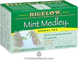 Bigelow Kosher Mint Medley Herbal Tea Caffeine Free 20 Tea Bags