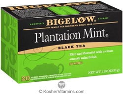 Bigelow Kosher Plantation Mint Black Tea 20 Tea Bags