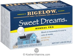 Bigelow Kosher Sweet Dreams Herbal Tea Caffeine Free 20 Tea Bags