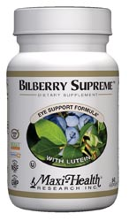 Maxi Health Kosher Bilberry Supreme with Lutein  60 Vegicaps
