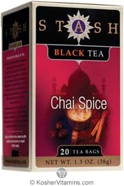 Stash Kosher Black Tea Chai Spice 6 Pack 20 Tea Bags