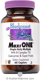 Bluebonnet Kosher MaxiOne Single Daily Multiple 60 Caplets