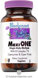 Bluebonnet Kosher MaxiOne Single Daily Multiple 90 Caplets