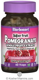 Bluebonnet Kosher Standardized Pomegranate Whole Fruit Extract 60 Vegetable Capsules