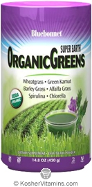 Bluebonnet Kosher Super Earth OrganicGreens Powder  14.8 OZ