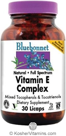 Bluebonnet Kosher Full Spectrum Vitamin E Complex 30 Licaps
