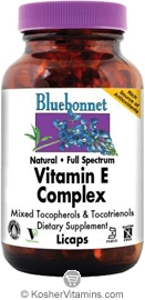 Bluebonnet Kosher Full Spectrum Vitamin E Complex 60 Licaps