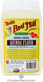 Bob's Red Mill Kosher Whole Grain Quinoa Flour Organic 22 OZ