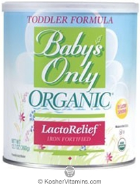 Natures One Kosher Baby's Only Organic Toddler Formula LactoRelief Iron Fortified Dairy 12.7 OZ