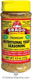 Bragg Kosher Premium Nutritional Yeast Seasoning 4.5 OZ