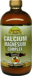 Dynamic Health Kosher Liquid Calcium Magnesium Complex with Vitamin D3 Orange Flavor 16 fl oz.