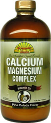 Dynamic Health Kosher Liquid Calcium Magnesium Complex with Vitamin D3 Pina Colada Flavor 16 fl oz.