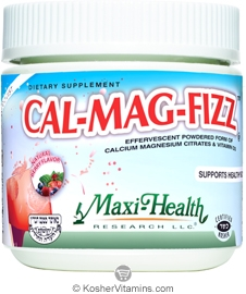 Maxi Health Kosher Cal-Mag-Fizz Calcium Magnesium & Vitamin D3 Powder Berry Flavor 13.75 OZ