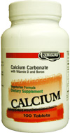 Landau Kosher Calcium Carbonate 600 Mg with Vitamin D and Boron  250 Tablets