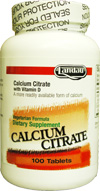 Landau Kosher Calcium Citrate with Vitamin D 100 Tablets