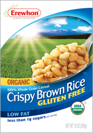 Erewhon Kosher Organic Crispy Brown Rice Gluten Free Whole Grain Cereal 1 Box