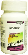 Landau Kosher Centralan Multi Vitamin/Mineral (Compare to Centrum) 100 Tablets