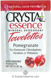 Crystal Essence Mineral Deodorant Towelettes Pomegranate - Free with a $49 Purchase 1 Packet