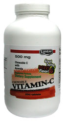 Landau Kosher Vitamin C Candy 500 Mg Chewable Berry Flavor 250 Tablets