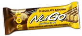 NuGo Nutrition Kosher Nutrition To Go 17g Protein Bar Banana Chocolate Dairy 15 Bars