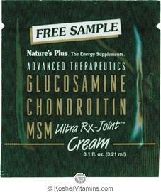 Nature`s Plus Glucosamine Chondroitin MSM Ultra Rx-Joint Cream - Free with a $49 Purchase 1 Packet