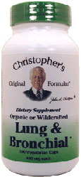 Dr. Christopher's Lung & Bronchial Formula Vegetarian Suitable Not Certfied Kosher 100 Vegetarian Capsules