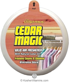 Citrus Magic Solid Air Freshener Cedar for Closets Pack of 6 8 OZ