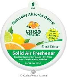 Citrus Magic Solid Air Freshener Fresh Citrus Pack of 6 8 OZ