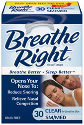 Breathe Right Nasal Strips Clear Small Medium 30 Strips