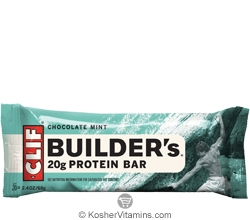 Clif Kosher Builder's 20g Protein Bar Chocolate Mint Dairy 12 Bars