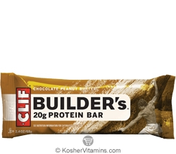 Clif Kosher Builder's 20g Protein Bar Chocolate Peanut Butter Dairy 12 Bars