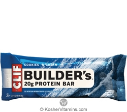 Clif Kosher Builder's 20g Protein Bar Cookies 'N Cream Dairy 12 Bars