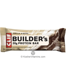 Clif Kosher Builder's 20g Protein Bar Vanilla Almond Dairy 12 Bars