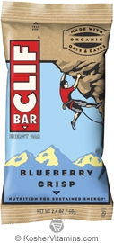 Clif Kosher Energy Bar Blueberry Crisp Dairy 12 Bars
