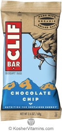 Clif Kosher Energy Bar Chocolate Chip Dairy 12 Bars