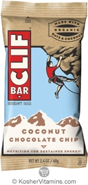 Clif Kosher Energy Bar Coconut Chocolate Chip Dairy 12 Bars