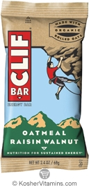 Clif Kosher Energy Bar Oatmeal Raisin Walnut Dairy 12 Bars