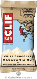 Clif Kosher Energy Bar White Chocolate Macadamia Nut Dairy 12 Bars