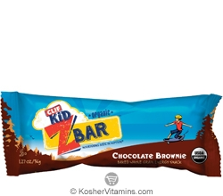 Clif Kosher Kid Organic ZBar Chocolate Brownie Dairy 18 Bars