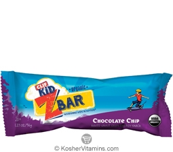 Clif Kosher Kid Organic ZBar Chocolate Chip Dairy 36 Bars