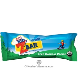 Clif Kosher Kid Organic ZBar Iced Oatmeal Cookie Dairy 36 Bars