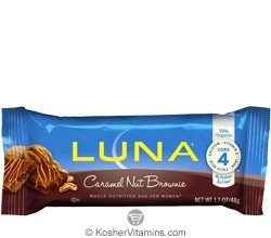 Clif Kosher Luna Nutrition Bar Caramel Nut Brownie Dairy 15 Bars
