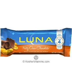 Clif Kosher Luna Nutrition Bar Nutz Over Chocolate Dairy 15 Bars