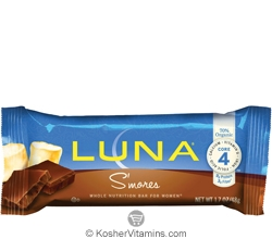 Clif Kosher Luna Nutrition Bar S'mores Dairy 15 Bars
