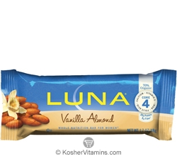 Clif Kosher Luna Nutrition Bar Vanilla Almond Dairy 15 Bars
