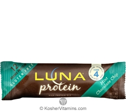Clif Kosher Luna Protein Bar Mint Chocolate Chip Dairy 12 Bars