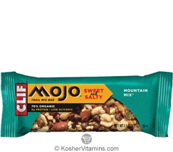 Clif Kosher Mojo Sweet & Salty Trail Mix Bar Mountain Mix 12 Bars