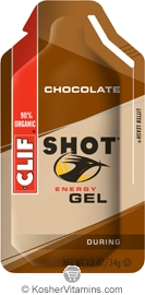 Clif Kosher Shot Energy Gel Chocolate Dairy 24 Packs