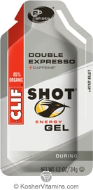 Clif Kosher Shot Energy Gel Double Expresso Dairy 24 Packs
