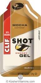 Clif Kosher Shot Energy Gel Mocha Dairy 24 Packs